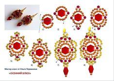 Beaded Earrings Patterns, Seed Bead Earrings, Beading Patterns, Free Beading Tutorials, Beading Projects, Seed Bead Crafts, Earring Tutorial, Bead Weaving, Beaded Embroidery