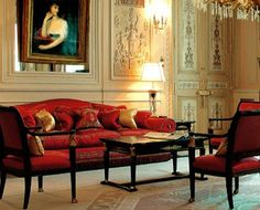 One RED Couch can completely decorate A Rm