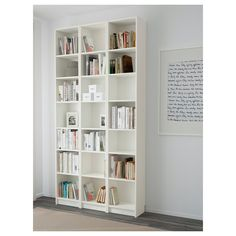 IKEA - BILLY, Bookcase, white, , Narrow shelves help you use small wall spaces effectively by accommodating small items in a minimum of space.Adjustable shelves can be arranged according to your needs.Surface made from natural wood veneer. Shallow Shelves, Narrow Shelves, Corner Shelves, Book Shelves, Ikea Billy Bookcase White, Ikea Bookcase, Billy Bookcases, Ikea Deco, Billy Regal