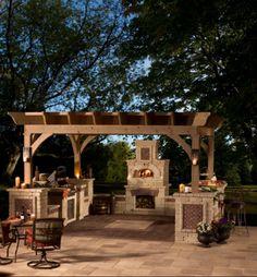 outdoor küche unter die pergola