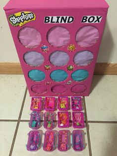 Used duplicate Shopkins to make bracelets. These are used as… Shopkins punch box. Used duplicate Shopkins to make bracelets. These are used as prizes for games. Neat idea for birthday party. Can use old shopkins too! Fete Shopkins, Shopkins Bday, Shopkins Cake, Shopkins Party Ideas, Shopkins Food, 6th Birthday Parties, 10th Birthday, Birthday Fun, Kids Birthday Party Games