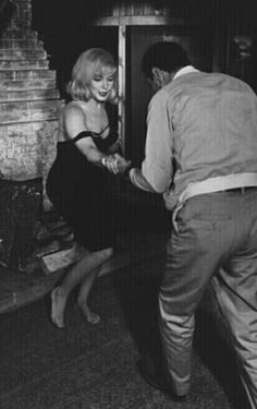 "Marilyn Monroe and Eli Wallach, ""The Misfits"", 1961."