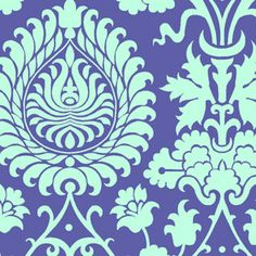 Amy Butler - Love - Bali Gate in Periwinkle.  OMG - this would bring together the Aqua AND the Periwinkle.  I must have it!