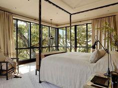 Mediterranean Bedroom by Ken Linsteadt Architects