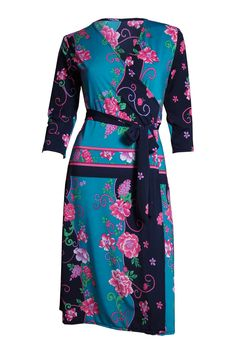 The Iconic Wrapped Dress - Straits Floral Motifs - Kristine's Collection