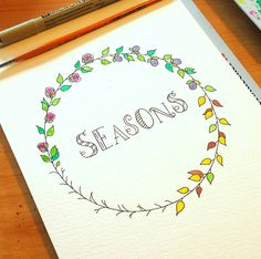Here is my new hand letting pic. #handlettering #lettering #handwriting #writing #inspiration #seasons #aquarelle #aquarellepainting #spring #summer #autumn #winter #doodle #letteringwithpositivity