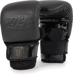 """TITLE BLACK® Pro Bag Gloves, BK, L by Title Boxing. $99.99. The TITLE BLACK equipment line takes you to the max with precision """"king cut"""" double-ply full grain leathers, brilliant and luxurious patent leathers and extra deep pile suede leathers that complement each other in a rich compilation of premier quality, clout and exclusive membership. These gloves are crafted with a technical assemblage of almost 1.25"""" of hi-impact hitting foam and lo-impact protecting fo..."""
