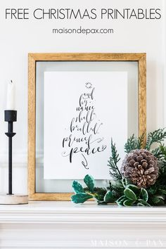 Looking for free Christmas printables? Try this Prince of Peace printable wall art and check out many other free holiday printables!