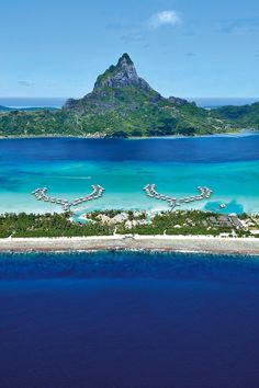 Intercontinental Bora Bora Resort & Thalasso Spa, French Polynesia Travel Share and enjoy! Intercontinental Bora Bora, Bora Bora Resorts, French Polynesia Honeymoon, Bora Bora French Polynesia, Beautiful Beach Pictures, Beautiful Beach Sunset, Beautiful Places, Places To Travel, Places To Visit