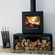 amazing hearth ideas for freestanding fire - Google Search