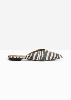 & Other Stories | Zebra Pointy Slippers
