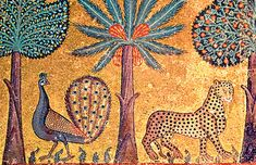 Peacocks and leopards: mosaic in the Palazzo dei Normanni, in… Medieval Manuscript, Medieval Art, 6th Grade Art, Jewish Art, Verona Italy, Puglia Italy, Venice Italy, Gothic Art, Islamic Art