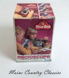 Vintage 1980 PLAY-DOH MICROSCOPE SET by KENNER No.21320 Unused In Box #Kenner