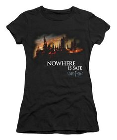 Black 'Nowhere Is Safe Harry Potter' Tee - Juniors #zulily #zulilyfinds