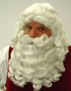 Professional quality very full santa claus wig and beard set 9a21dcfe31