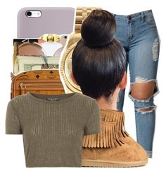 """"""""""" by ayeeitsdessa ❤ liked on Polyvore featuring beauty, Michael Kors and Topshop"""