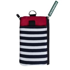 Starbucks Taiwan 2016 Holiday Stripe Patch Functional Purse for iphone