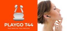 In terms of audio quality, PlayGo T44 offer decent sound quality with good bass.They come with proprietary EBEL 10mm drivers. Tab to know about all features. Wireless Earbuds, Headphones, Gadget News, Sweat Proof, Noise Cancelling, Bass, Audio, Wireless Headphones