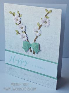 TweetScraps: March Card Workshop - Hello Lovely Flower Shaping Cards