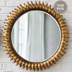 Regina Andrew Decor Sun Antique Gold Round Mirror RA405049GC