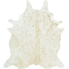 Pictures of Cowhide - Matte Gold on Ivory