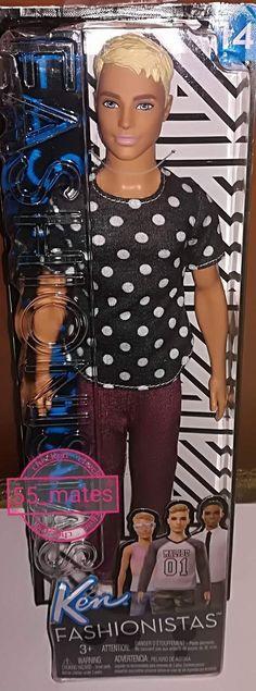 -Barbie Fashionistas In Black & White Ken Doll(14)