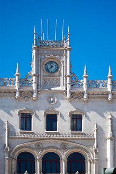 Estacão Rossio clock tower, Lisbon