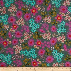 Cotton & Steel Playful Lawn Vintage Floral Teal