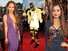 2013 VMA Red Carpet Favorites- Melanie Iglesias, 2 Chainz, Salena Gomez, revealing a bit of color