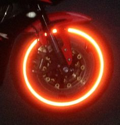@customTAYLOR33 Patented High Intensity Grade RED Reflective Rim/Wheel Tapes - #1 SAFETY USA Motorcycles Bicycles Cars Trucks Scooters Vans ATVs Fixie Mopeds Bikes Cycling BMX Strips TRON @customTAYLOR33 http://www.amazon.com/dp/B00G6188EM/ref=cm_sw_r_pi_dp_W9elub1HN9XDV