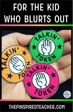 9 Guaranteed Ways to Stop Students from Blurting Out For the Kid Who Blurts Out Talkin Token behavior intervention: Give a student tokens during a whole class discussion. Each time the student participates (or blurts out) they hand over a token. Classroom Behavior Management, Behaviour Management, Classroom Rules, Kindergarten Classroom, Classroom Organization, Behavior Plans, Behavior Charts, Classroom Decor, Classroom Behaviour