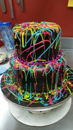 CynTucci's New York Style Bakery - Shopkins Party Ideas Neon Birthday Cakes, Sleepover Birthday Parties, Birthday Party For Teens, Sweet 16 Birthday, 21st Party, Teen Parties, Teen Birthday, Spa Party, 16th Birthday