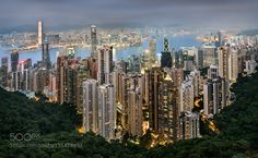 Hong Kong sunset by AntoniFigueras. @go4fotos