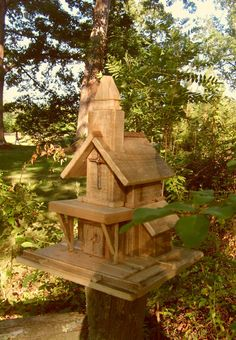 Nail Cross Church Birdhouse by themomnpopwoodshop on Etsy, $79.99