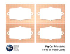 Free Tent Card Printables designed by Jessica Griffin for #GlueDots Pig Out Summer BBQ guide!