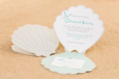 Sea Shell-themed Wedding Invitations and Accessories | Real Weddings Stationery by Nulki Nulks