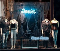 G by GUESS Back To School Window Display - Carpe Denim* (*Seize the Denim)