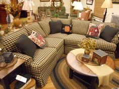 Another Gorgeous Country Sofa With Gingham! And Wonderful Country Home  Décor And Accessories!