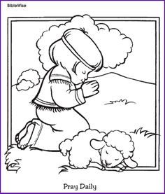 bible coloring page boy in field color bible pictures characters and more online christian coloring pages of easter and christmas too