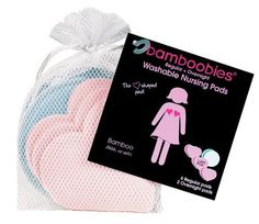 Super-soft bamboo rayon and organic cotton velour soothes chafed nipples - Bamboobies Super-soft Washable Nursing Pads - All Pale Pink