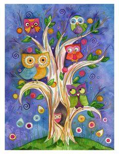 Magic owl tree