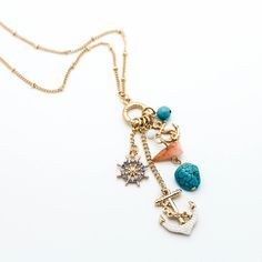 Anchor charms necklace – Imsmistyle.