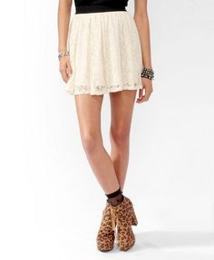 Metallic-Blend Lace Skirt | FOREVER21 - 2025101512