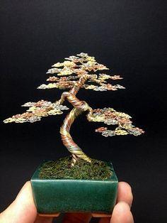 3 color wire bonsai tree by Ken To by KenToArt on deviantART