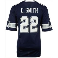 Nike Men's Emmitt Smith Dallas Cowboys Retired Game Jersey ($100) ❤ liked on Polyvore featuring men's fashion, men's clothing, men's activewear, navy, mens jerseys, old navy mens clothing, nike mens apparel, mens activewear and mens clothing