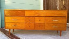 long low mid century dresser