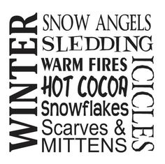 Primitive Winter STENCIL**Snow Angels Sledding Snowflakes Hot Cocoa** for Painting Signs, Airbrush, Crafts, Wall Art and Decor Christmas Svg, Christmas Stencils, Pallet Christmas, Christmas Canvas, Christmas Printables, Christmas Ideas, Winter Quotes, Winter Sayings, Snow Sled