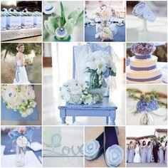 Periwinkle Wedding Centerpieces | Bottom row: teal chair via dustjacket attic ; interior via Lonny ...