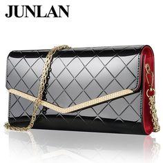 Designer Brand JUNLAN Women Genuine Leather Clutch bag New arrival Top leather bag for ladies Messenger bags Women shoulder bag #bags