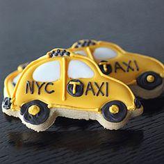 NYC taxi cab sugar cookies